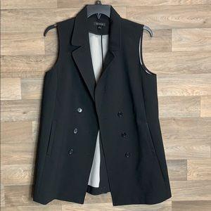 Ann Taylor Oversized  Black Button Vest